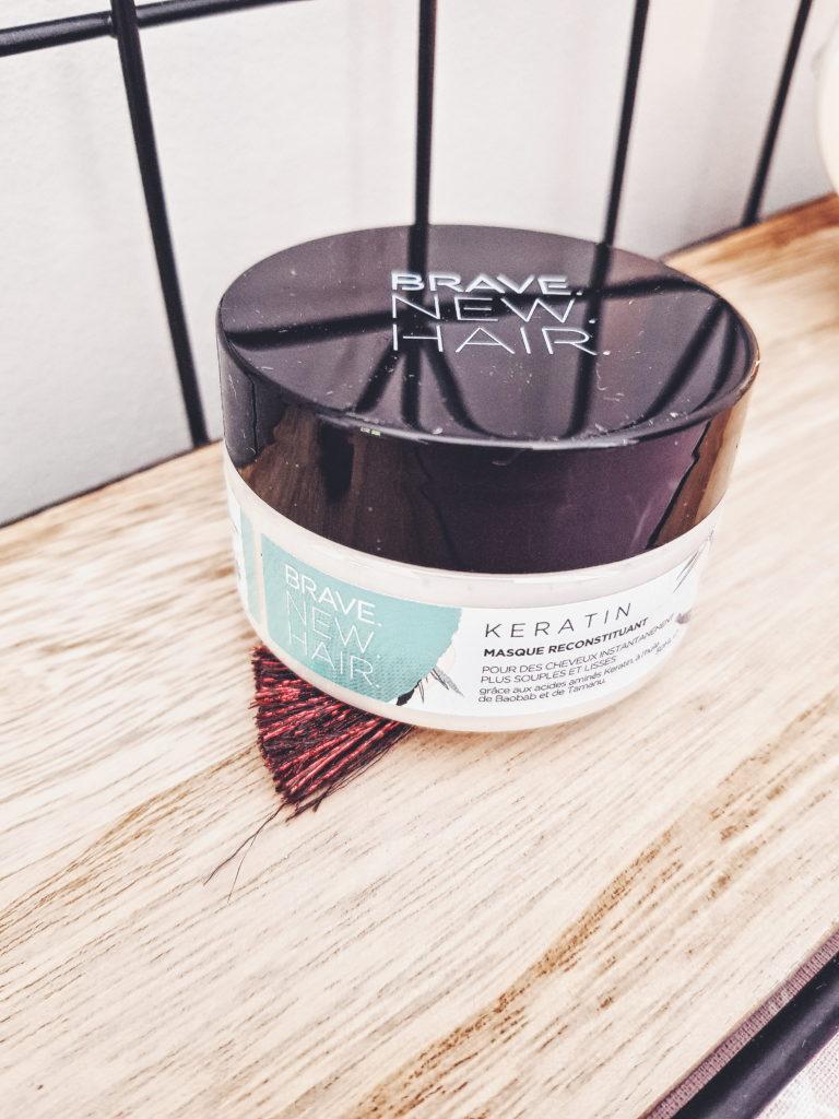 masque cheveux à la kératine de la marque Brave new hair