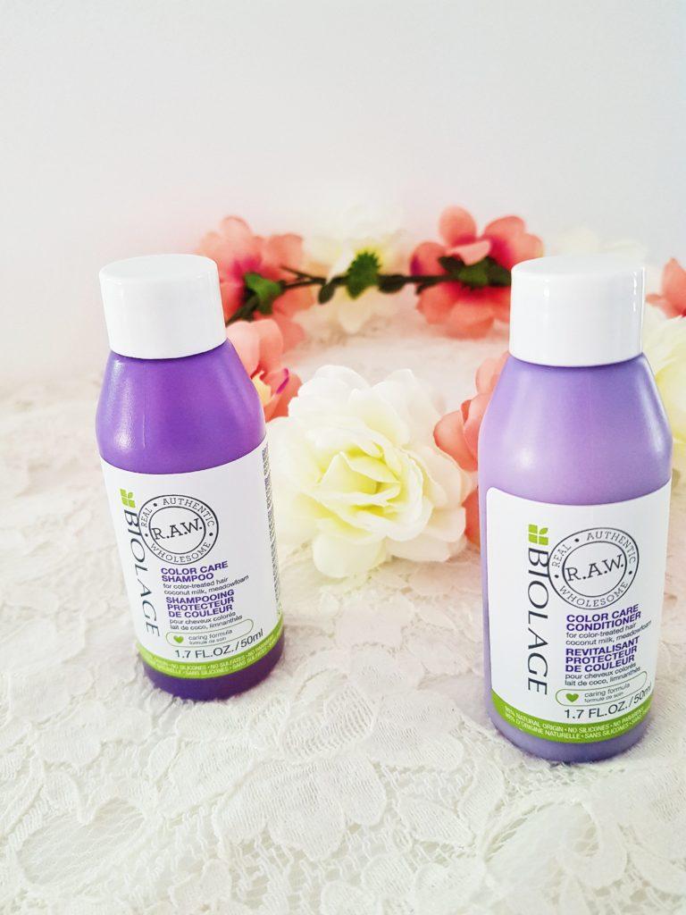 shampooing et conditioner color care protecteur de couleur raw biolage