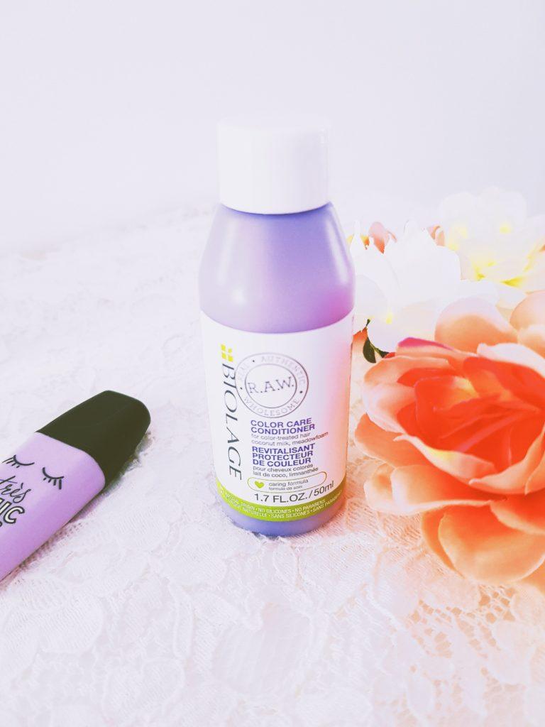 conditioner après shampooing color care protecteur de couleur raw biolage lait de coco