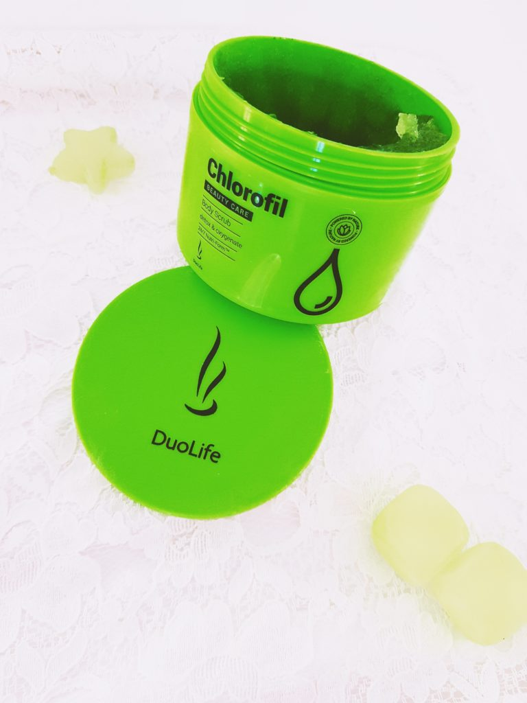 gommage corps duolife a chlorofil