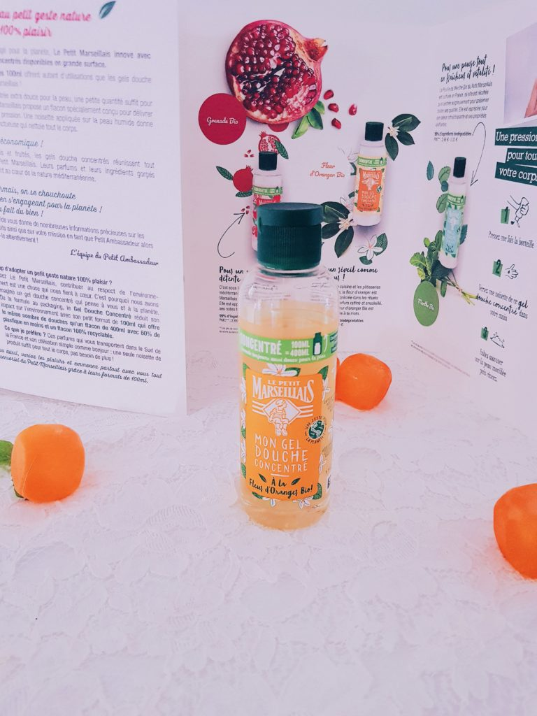 gel douche concentré bio le petit marseillais fleur d'oranger