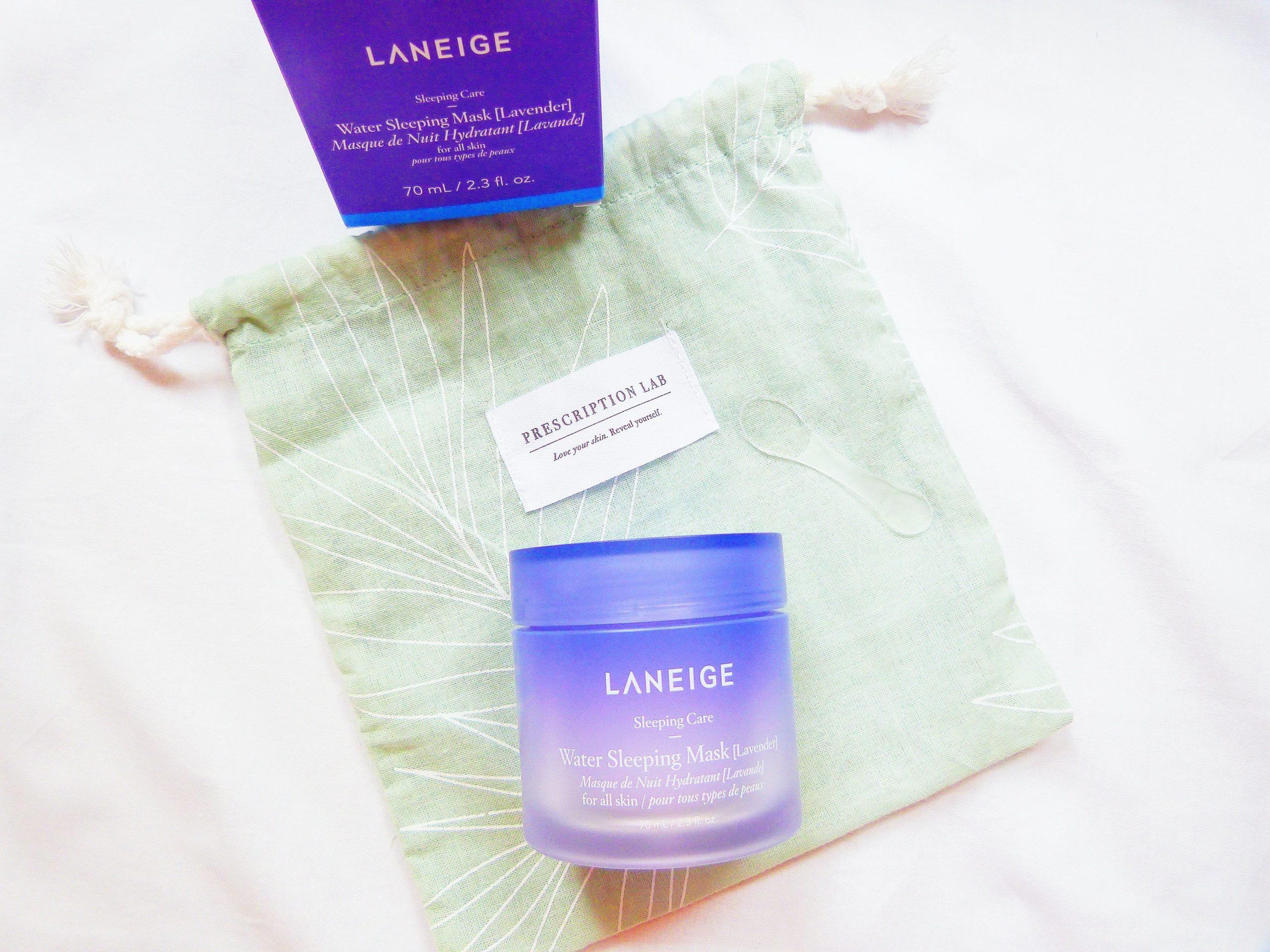 masque de nuit réparateur Laneige reçu dans la prescription cab de juillet 2020