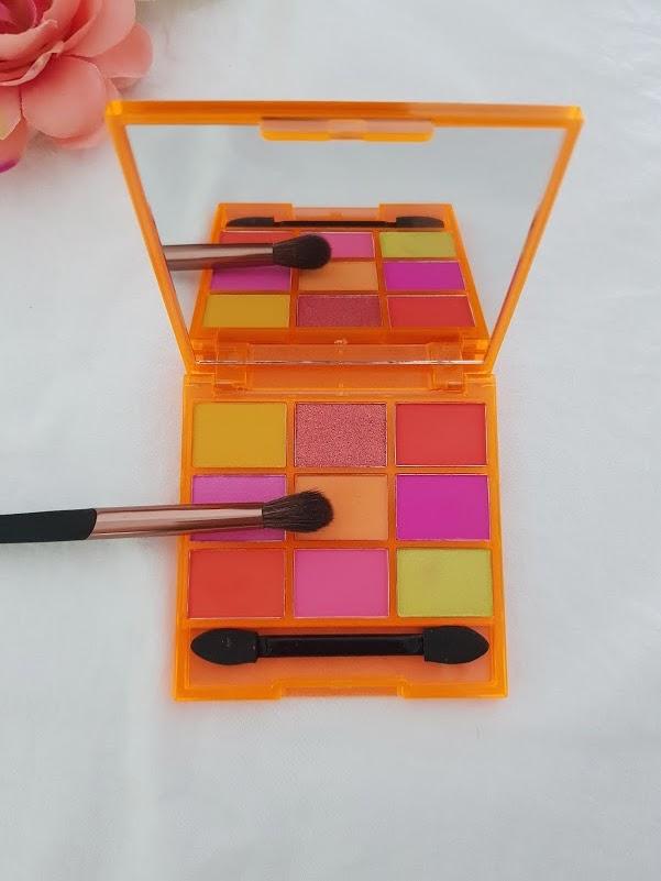 fard à paupière orange mat palette tropical beauty fab factory