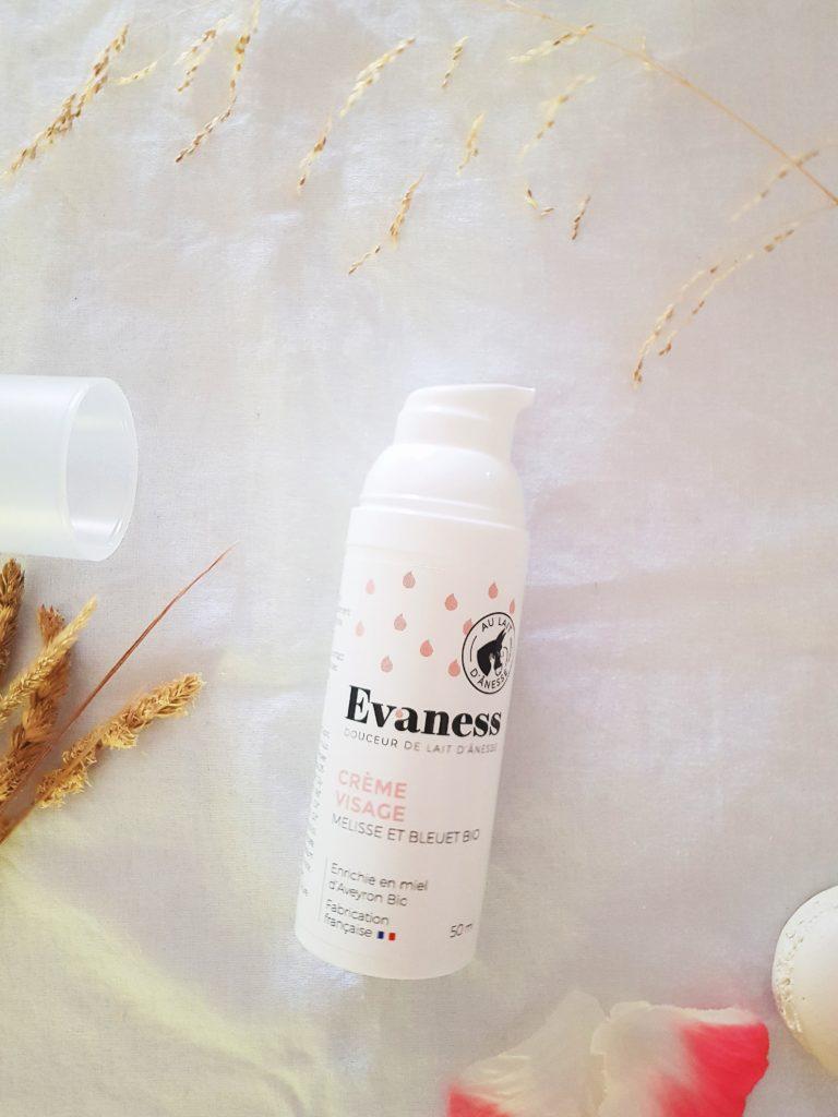 crème visage evaness cosmétiques au lait d'ânesse
