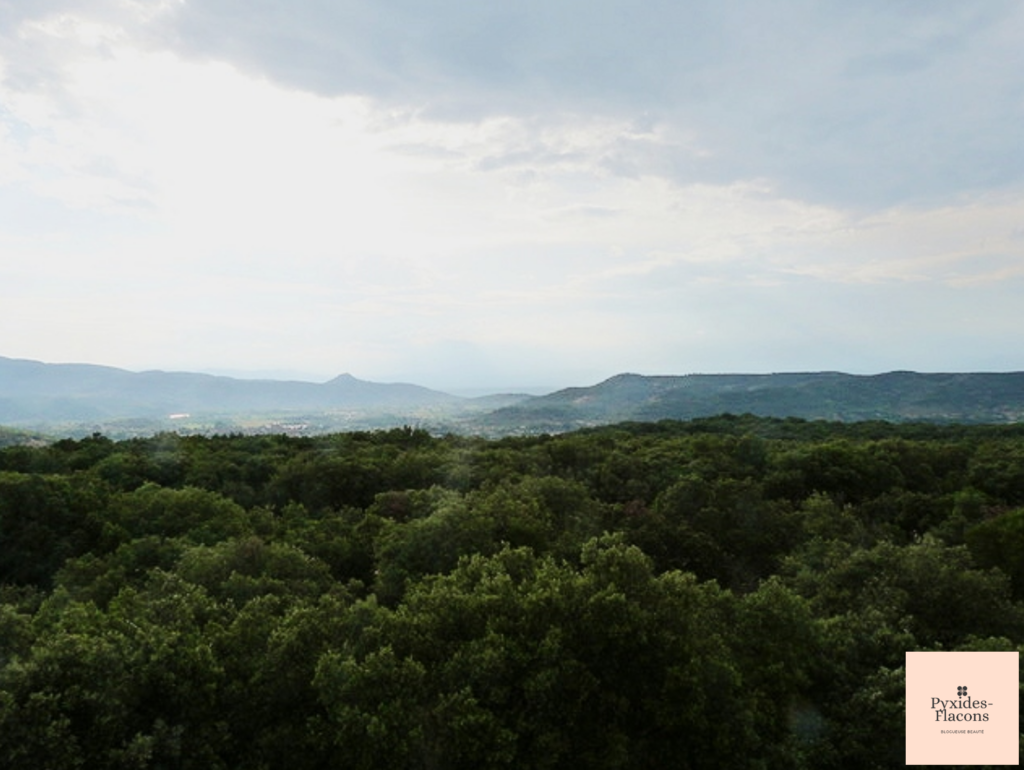 vue sur les montagnes de la grotte chauvet 2