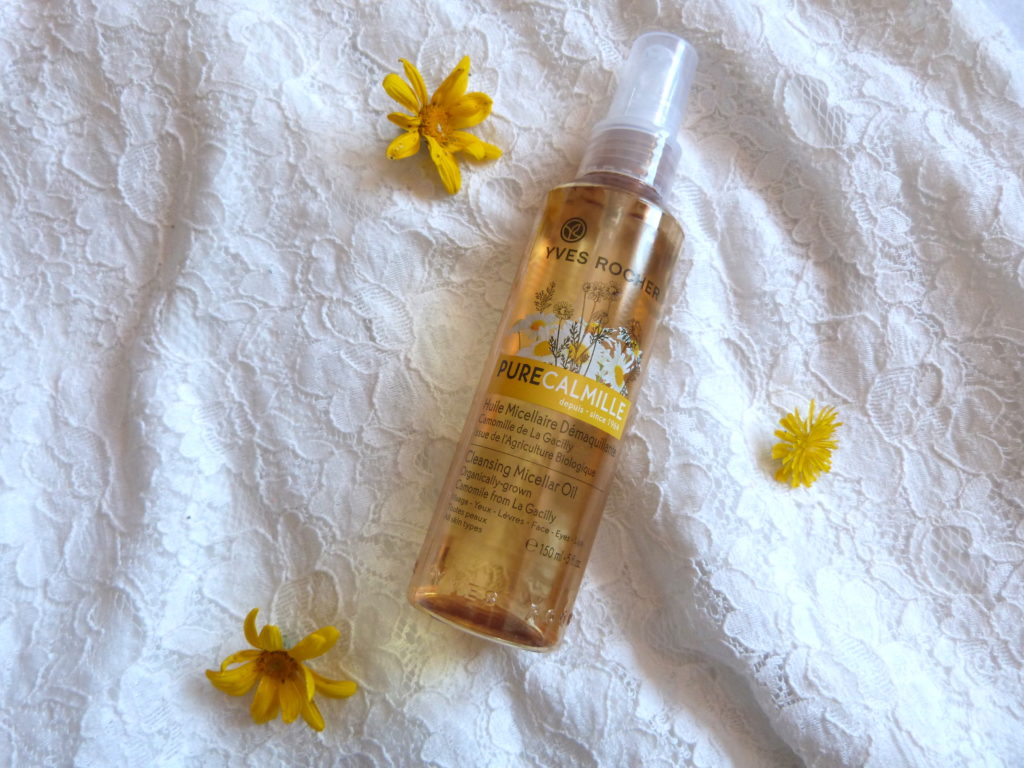 produits terminés juillet huile micellaire démaquillante pure calmille yves rocher