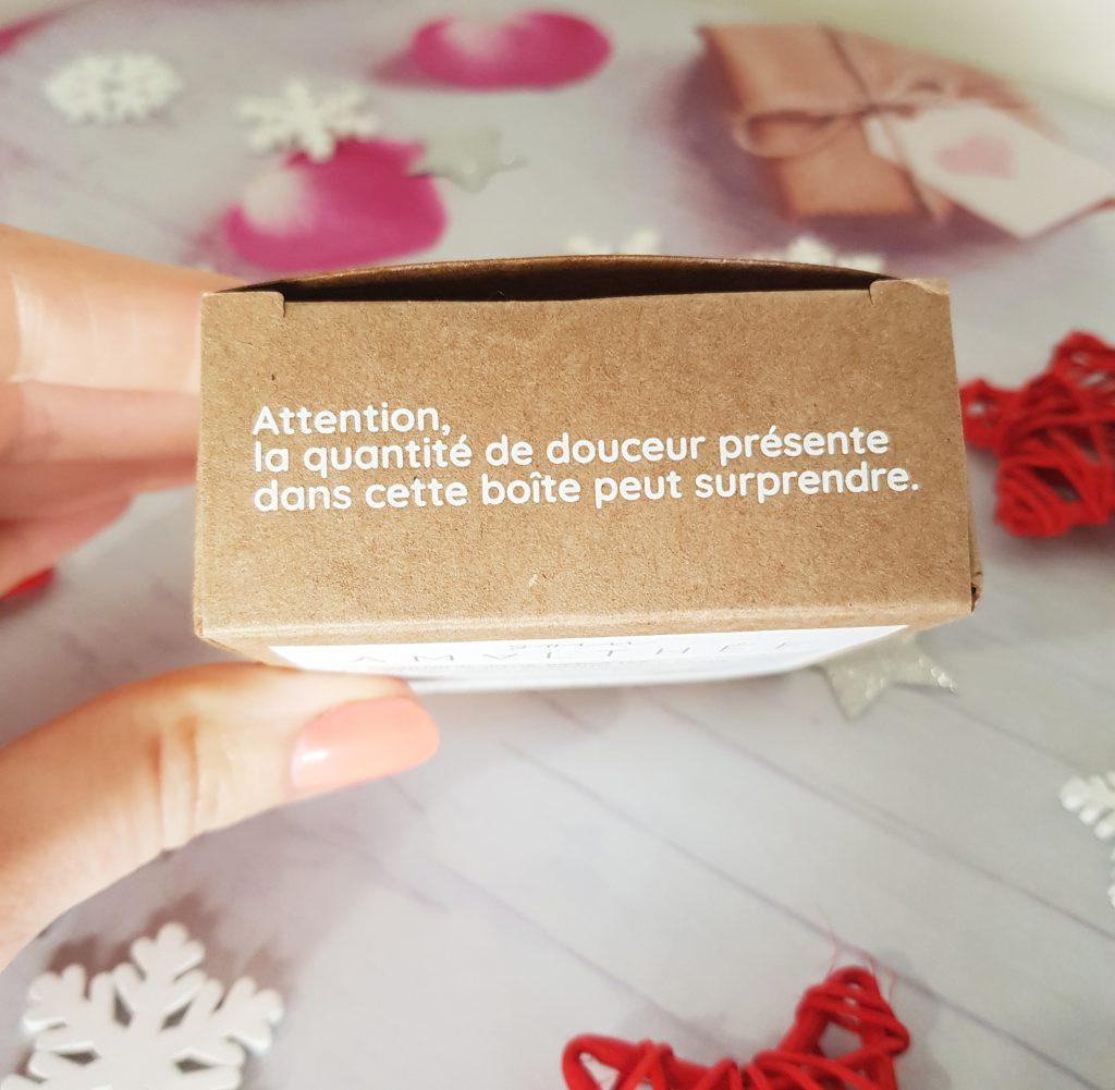 inscriptions sur packaging produit amalthee