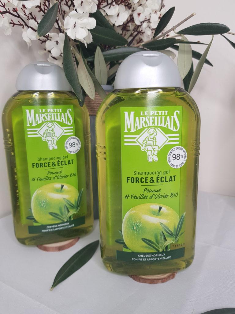 shampooing gel force et eclat le petit marseillais aux feuilles d'olivier bio